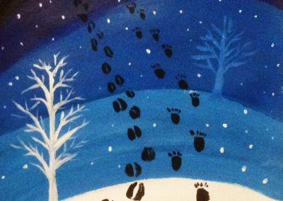 Stopy v snehu 1